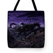 Forbidden Land Of The Beasts Descent Tote Bag