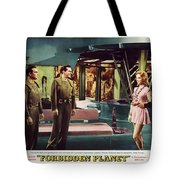 Forbidden Planet In Cinemascope Retro Classic Movie Poster Indoors Tote Bag