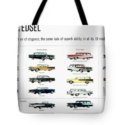 Ford Auto/edsel Ad, 1957 Tote Bag