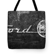 Ford F-100 Emblem On A Rusted Hood Tote Bag