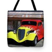 Ford Flaming Hot Rod Tote Bag