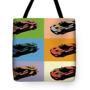 Ford Gt Pop Art Tote Bag