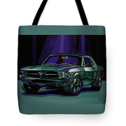 Ford Mustang 1967 Painting Tote Bag