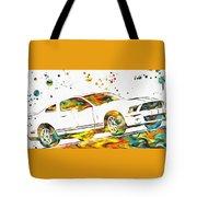 Ford Mustang Paint Splatter Tote Bag