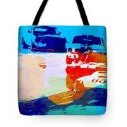 Ford Mustang Watercolor Tote Bag