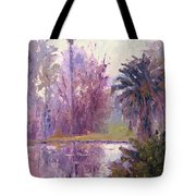 Ford Park-cloudy Morning Tote Bag