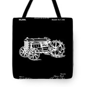 Ford Tractor Patent 1919 Black Tote Bag