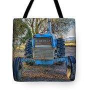 Ford Tractor Tote Bag by Tony Baca