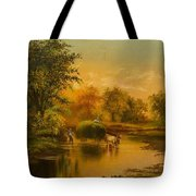 Fording The Stream Tote Bag