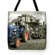 Fordson And The Threshing Machine Tote Bag