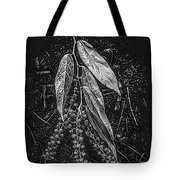 Forest Botanicals In Black And White Tote Bag