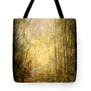 Forest Butterfly Moon Tote Bag