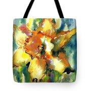 Forest Daffodil In Rain Tote Bag