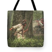 Forest Fight Tote Bag by Randy Steele