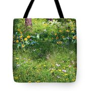 Forest Flowers Landscape Tote Bag