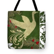 Forest Holiday Christmas Goose Tote Bag