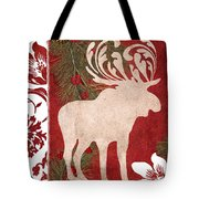 Forest Holiday Christmas Moose Tote Bag
