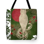 Forest Holiday Christmas Owl Tote Bag