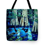 Forest In Water Tote Bag