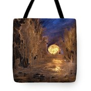 Forest Moonrise Glow Tote Bag