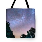 Forest Night Light Tote Bag