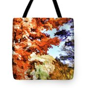 Forest Of Fall Colors Tote Bag