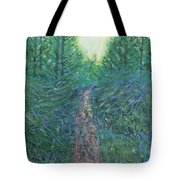 Forest Of Green And Blue Tote Bag