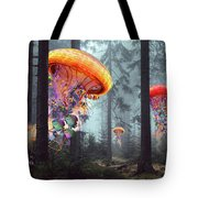 Forest Of Jellyfish Worlds Tote Bag