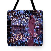 Forest Of Resonating Lamps Tote Bag