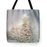 Forest Of Trees In The Light Tote Bag