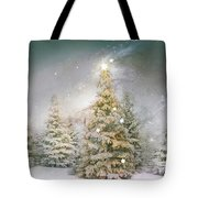 Forest Of Trees In Wintergreens Tote Bag