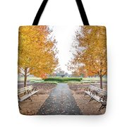 Forest Park Benches Tote Bag