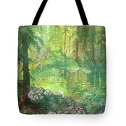 Forest Pond Tote Bag