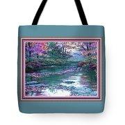 Forest River Scene. L B With Alt. Decorative Ornate Printed Frame. No. 1 Tote Bag