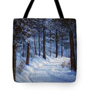 Forest Road Tote Bag