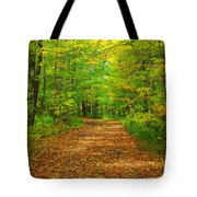 Forest Road In The Fall Tote Bag