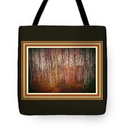 Forest Scene. L A With Decorative Ornate Printed Frame. Tote Bag
