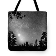 Forest Silhouettes Constellation Astronomy Gazing Tote Bag