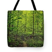 Forest Stairs Tote Bag