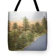 Forest Sunrise Beach Tote Bag