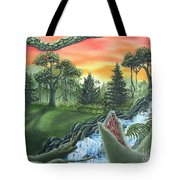 Forest Sunset Cascade Tote Bag