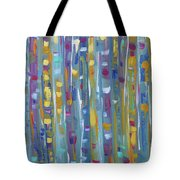 Forest Through The Trees, Abstract Art Tote Bag