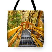 Forest Tower Steps Tote Bag