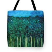 Forest Under The Full Moon - Abstract Tote Bag