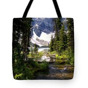 Forest View To Mountain Lake Tote Bag