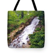 Forest Waterfall Tote Bag