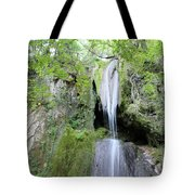 Forest With Waterfall Tote Bag