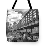 Forever Wild Trail Black And White Tote Bag