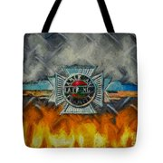 Forged In Fire - Vintage American Lafrance - Oil Tote Bag