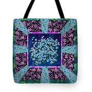 Forget Me Nots Fabric By Clothworks Tote Bag